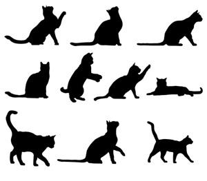 Cats Stencil - A4/A5/A6