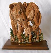 """Figi Graphics Lions Figural Desk Shelf Ceramic Plaque  SC-AN-104 10"""" tall"""