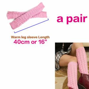 Long Fingerless Gloves Mittens Winter Wrist Arm Hand or Legs Keep Warmer Knitted