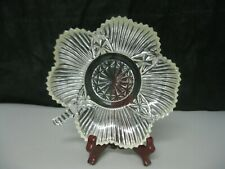 Shamrock Shape Glass Candy Dish Trinket Bowl St. Paddys Day Decor