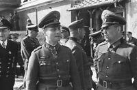 Photo WW2 Général Erwin Rommel débarquement de Normandie format 10x15 cm n235