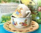 BUNNY+RABBITS+Childs+Dinner+Set+of+3+Porcelain+Colourful+Nursery+Learning+Tool