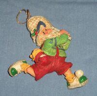 SANTA CLAUS Tennis Player Sports Christmas Tree Ornament Ball Racquet Racket