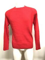 NWT ZARA MAN red pullover sweater long sleeve 100% cotton size M warm high neck