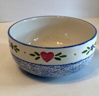 VTG Small Mixing Bowl Spackleware R.B. Bernarda Portugal Serving /Salad / Chili