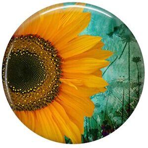 Green Yellow Sun Flower Enamel 18mm Snap Charm For Ginger Snaps Magnolia Vine