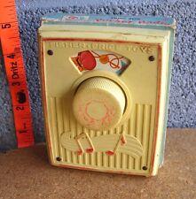 FISHER-PRICE vtg Music Box Pocket Radio beat-up toy 1964 Pop Goes Weasel #775