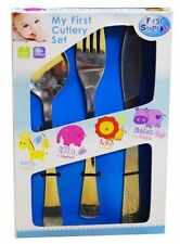 Brand New Kids First Step Stainless Steel Cutlery Set With Spoon ,Fork and Knife