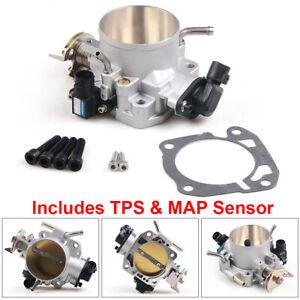 For Honda Civic Si Acura B/D/F/H B16 B18 70mm Throttle Body W/ TPS & MAP Sensor