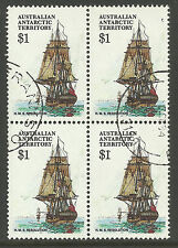 AUSTRALIA ANTARCTIC AAT 1979 CAPTAIN COOK SHIP RESOLUTION BLOCK OF 4 FINE USED