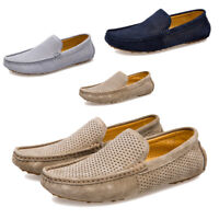 New Men Driving Loafers Breathable Leather Moccasins Slip On Penny Shoes US 6-10