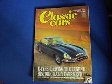 CLASSIC CARS MAGAZINE E-TYPE JAGUAR BUGATTI ROYALE Martin ASTON DB4 2.1988 AA1