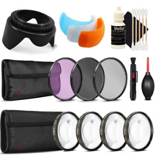 58mm Filters with Accessory Bundle for Canon EOS Rebel T6 and T7i