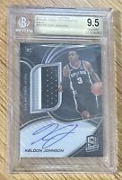 2019-20 SPECTRA KELDON JOHNSON ROOKIE JERSEY AUTO WAVE SSP SPURS BGS 9.5 #38/39!