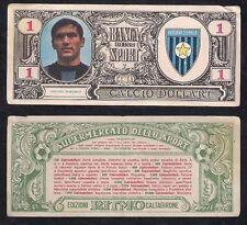 Figurina 1 Calcio Dollari Edizioni Ritmo Caltagirone 1969 BURGNICH Inter