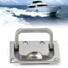 Silver Stainless Boat Marine Flush Hatch Locker Cabinet Hatch Lift Pull Handle