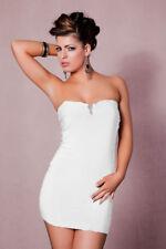 Vestido Sin Hombro Vestido Tubo Vestido De Cóctel Blanco J16