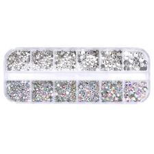 Rhinestone Transparent Bottom Drill Mixed Nail Art Glitter Diamond DIY Decor