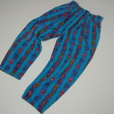 Vintage Jet Set Paperbag Corduroy Pants Girls 5 High Waisted Paisley Trousers
