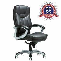 400LBS Executive Bonded Leather Chair Lean Forward High Back for Office Home