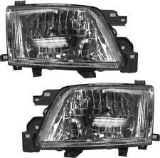 New Pair Set Headlight Headlamp Assembly w/Bulb for 2001-2002 Subaru Forester
