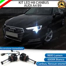 KIT FULL LED LAMPADE H8 6000K BIANCO 9800 LUMEN FENDINEBBIA AUDI A4 B9 COMPATTE