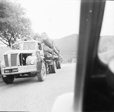 DONON c. 1950 -Camion Transport Tronçons de Bois Bas Rhin-Négatif 6 x 6 - N6 GE4