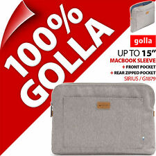 "Golla 15"" Gris Apple Macbook Air Pro Housse Ordinateur Portable Sac Padded Carry"