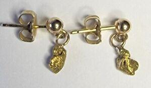 Made in Alaska 22K Gold Nugget Earrings on 14k Posts