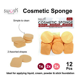 1x/ 2x/ 3x Sponge Cosmetic Puff Face Makeup Foundation Contour Facial 12pc