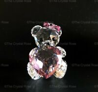 RARE Retired Swarovski Crystal Kris Bear Only For You 1096732 Heart Love Pink