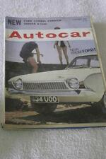 Autocar October Cars, 1960s Transportation Magazines