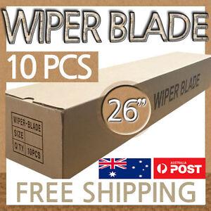 Aerodynamic Conventional Standard Metal Frame Wiper 26 inch (650mm) Blades 10PCS