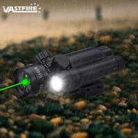 Adjustable Green Laser Sight Hot 100LM Flashlight Set fit 20mm Rail L