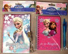 Disney Frozen Elsa Girls Journal w/Lock Plus Elsa & Anna Notebook w/Pen BNIP