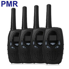 4PCS PMR 446MHz Walkie Talkies T628 8 Channels  for Euro 2 Way Radios in Black