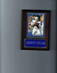 JOHNNY UNITAS PLAQUE BALTIMORE COLTS FOOTBALL NFL   C
