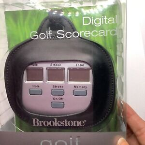 BROOKSTONE Electronic Digital Golf Scorecard Easy scorekeeper for golfers NEW