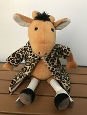 Vintage Jellycat I Am Furcoat Giraffe Brown with White Heel Boot Fashion England