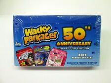 WACKY PACKAGES 50TH ANNIVERSARY SEALED COLLECTORS EDITION BOX SPECIAL CONTENT
