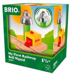 33707 BRIO My First Wooden Train Railway Bell Signal Age 18 Months+