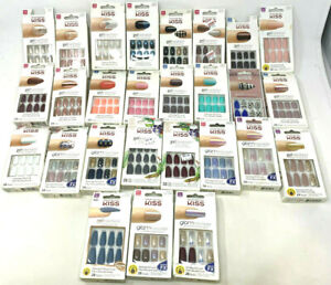 (2) Kiss Gel Glam Jewel Fantasy Nails Assorted YOU CHOOSE YOUR STYLE ***NO GLUE