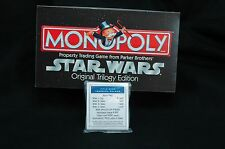 2004 Star Wars Original Trilogy MONOPOLY Game Replacement TITLE PROPERTY Cards