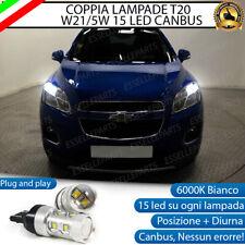 COPPIA LAMPADE T20 10 LED W21/5W DIURNE + POSIZIONE CHEVROLET TRAX 6000K CANBUS