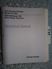 Harman Kardon hk450 hk 450 service manual original repair book stereo tuner