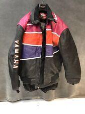 Vintage YAMAHA SNOWMOBILE LEATHER JACKET & PANTS Mens 4X suit bibs 4XL black set