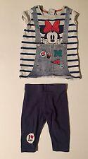 Bebé Niñas 3-6 meses próximos Disney Minnie Mouse Pijamas Top y Pantalones a Rayas
