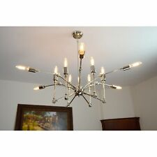 New listing 12 Light Candle-Style Spider Chandelier in Nickel finish - Nickel finish 39Wx39.