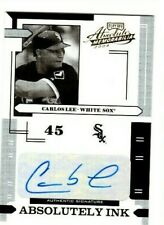 #D 92/100 AUTO CARLOS LEE 2004 Absolute Memorabilia ABSOLUTELY INK #i-28 SOX