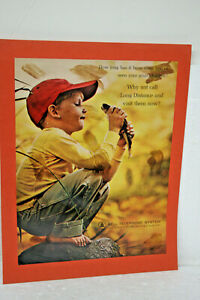 VINTAGE 1964 LOOK MAGAZINE PAGE PHOTO ADVERTISEMENT FOR BELL TELEPHONE SYSTEM